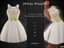{DD} Lemon drop Rockabilly Dress