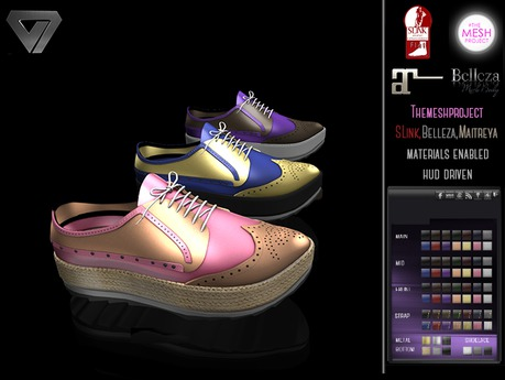 BLACK FRIDAY SALE - ILLI - [SLink,MeshProject,Belleza,Maitreya] Leticia Formal Sneaker (HUD Driven)