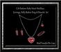 Cele'Sations Ruby Heart Jewelry Set
