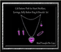 Cele'Sations Pink Ice Heart Jewelry Set