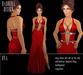 BD-Ona red silk gown dress diamond application dance ball sexy erotic slit