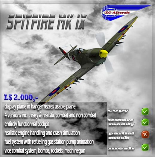 Spitfire MK IX EG Aircraft (box)