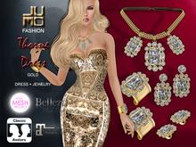 .:JUMO:. Thorne Dress Gold