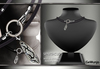 GeWunjo : SPARTACUS silver/black male necklace