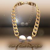 Curb N Pearl Chain Gold [rx]