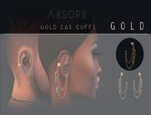 Absorb - Gold Ear Cuffs / Gold