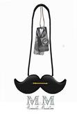 M&M-mustache bag black