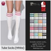 Izzie's - Tube Socks (White)