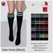 Izzie's - Tube Socks (Black)
