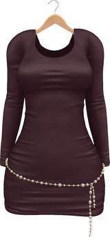 Blueberry Erica - Maitreya Lara & Belleza Venus & Lola's - Satin Dresses & Pearl Belts - Purple