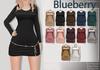 Blueberry erica satin dresses pearl belts