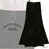 ::TY::Black Velvet long mesh skirt.