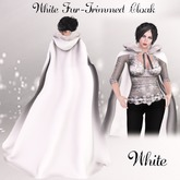 White Fur Trimmed Cloak- White