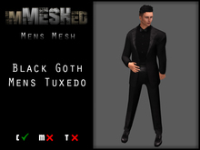 imMESHed - Black Goth Mens Tuxedo