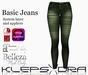 Klepsydra- Basic Jeans - Green (Appliers)