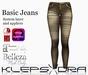 Klepsydra- Basic Jeans - Gold (Appliers)