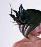OrsiniRed Headpiece Frosted Bloom Noir