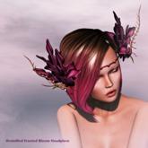 OrsiniRed  Headpiece Frosted Bloom Malva