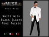 imMESHed - White w/ Black Slacks Mens Tuxedo