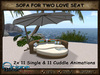 Sofa for Two Love Seat Rattan Outdoor