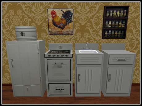 Second Life Marketplace Re Small Kitchen Set Fat Pack Early Days Kitchen Decor