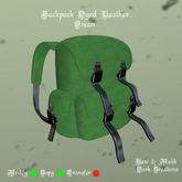 Backpack Dyed Leather Green