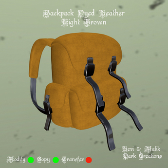 Backpack Dyed Leather Light Brown