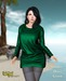 Sweater dress green promo