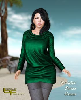 Babele Fashion :: Sweater Dress Green