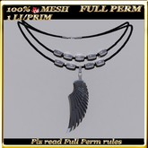 LW_ Mesh Necklace - Wing - Full Perm
