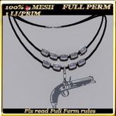 LW_ Mesh Necklace - Gun - Full Perm