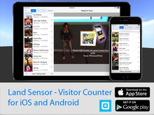 Land Sensor - Whole Sim Visitor Counter for iOS and Android