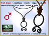 Bliensen + MaiTai - Troll Cross - Fenrir version - Viking necklace for men
