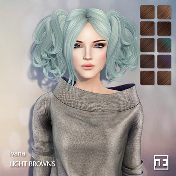 TRUTH HAIR Ivana (Mesh Hair) - light browns