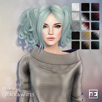 TRUTH HAIR Ivana (Mesh Hair) - black & whites