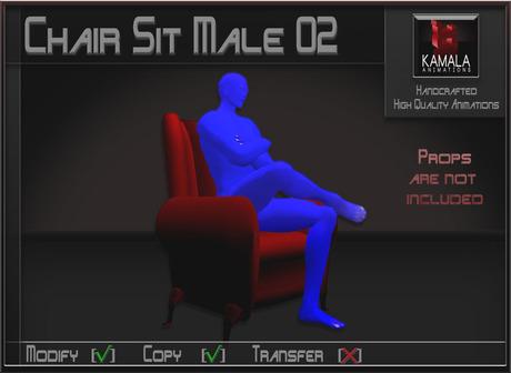 Seating *Chair Sit Male 02* Copyable Poseball