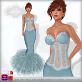 *Lurve* Brooke Lace Formal Gown - Sea Blue