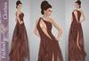 FaiRodis Wine berry MESH+FLEXI dress