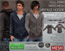 -TD- TEMPLATES - MESH Mens VINTAGE Hoodie *FULL PERMS*