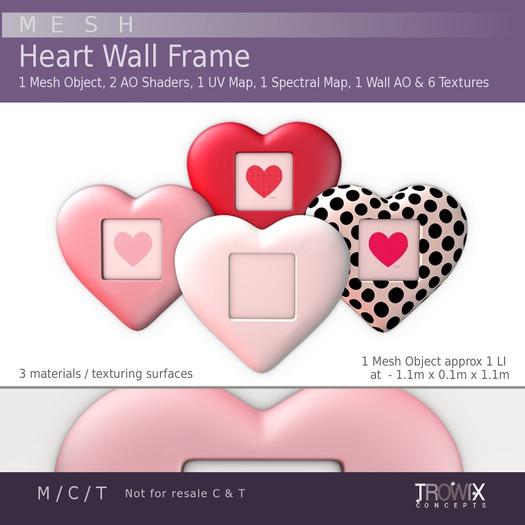 Trowix - Heart Wall Frame Mesh Pack