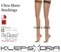 Klepsydra - Ultra Sheer Stockings - Gold & Black - Appliers Only