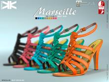Marseille :: 10 Colors :: for slink & maitreya feets.