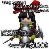 """Tiny Avatar """"Knight of Ribbon"""""""