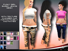 N1CO Funky Girl Baggy + Texture Changer (mesh)BAGGED