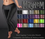 Mute. Mayhem Leggings - Black compatible with Belleza and Maitreya bodies