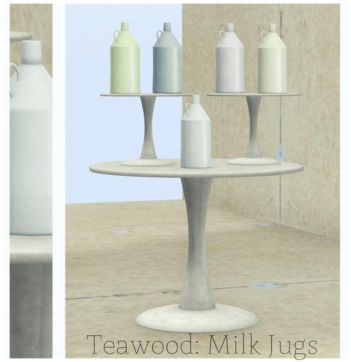 Teawood: Milk Jugs