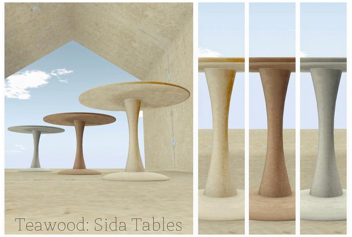 Teawood: Sida Tables