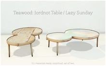 Teawood: Jordnot Table / Light Wood