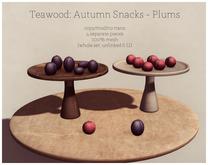 Teawood: Autumn Snacks: Plums