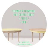flowey x Teawood: Kat Coffee Table / yello